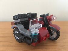LEGO Motorcycle & Sidecar Vintage Style CUSTOM BUILD. New Condition!