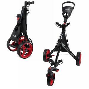 Ram Golf Push / Pull 3-Wheel Golf Cart with 360 Rotating Front Wheel
