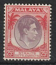 Malaya Straits Settlements 1937 KGVI 25c MNH SG#286 M1970
