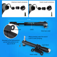 Portable Bike Bicycle Cycling Air Pump Inflator For Tyre Tire With Gauge Adapter