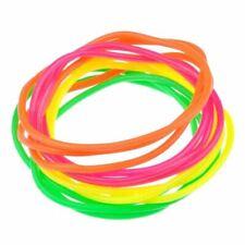 8 X Sets of 12 Neon Gummy Bangles Shag Bands Jelly Bracelets - Party Bag Fillers
