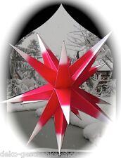 65 cm 3D STAR ALL'aperto rosso/BIANCO STELLA DI AVVENTO NATALE + 4M CAVO 100182