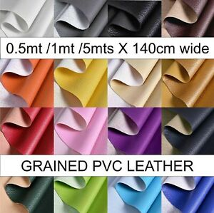 PVC textured FAUX LEATHER grained LEATHERETTE Upholstery Fabric  1 metre x 1.4mt