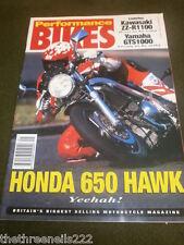 PERFORMANCE BIKES - HONDA 650 HAWK - JAN 1993