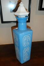 Vintage Wedgewood Blue Decanter Unusual Shape Barware Great Condition