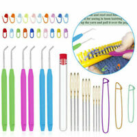 Knitting Loom Hook Set Crochet Needle Hook with Sewing Needle for Knifty Knitter