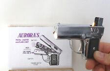 "Vintage Penguin Aurora ""45"" Pistol Lighter w/ Flash-Light  in Working Condition"