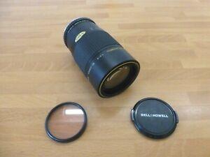 Bell Howell 52mm zoom lens unit. vintage 1980s. SLR camera 50mm K-mount & filter