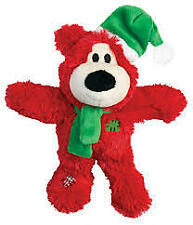KONG Festive Wild Knots Bear Christmas Dog Toy with rope & sqeaker -medium/large