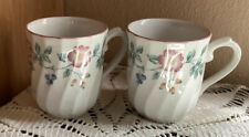 Briar Rose Churchill China Coffee Mugs  (SET OF 2) England.