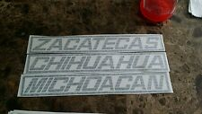 Zacatecas Chihuahua Michoacan  Chevrolet  454ss type of decal  tailgate window