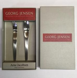 GEORG JENSEN Arne Jacobsen cutlery 100th Anniv. 2004 Limited edition Dead stock