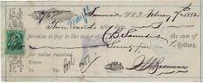 CANADA Prince Edward Island Summerside Sight Bill 1882 Revenue cgb