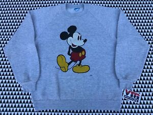 Vintage 80s Mickey Mouse DISNEY Crewneck Sweatshirt Size S/M 5050 Made USA