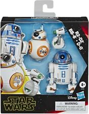 Star Wars Galaxy of Adventures E9 Droids Figures- 3 Pack -R2-D2, BB-8, D-0 - New