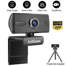 New listing 3Mp Hd Webcam Microphone Usb Computer Camera Video Cam For Pc/Mac Laptop/Desktop