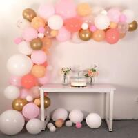 116 Pcs Latex Balloons, Pink,White, Gold 16 ft Balloon Arch & Garland Kit