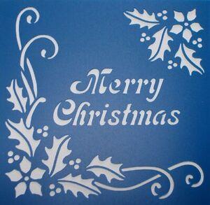 Scrapbooking - STENCILS TEMPLATES MASKS SHEET -  Merry Christmas Stencil