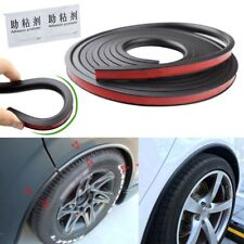 9.8ft Black Universal Car Fender Flares Wheel Eyebrow Trim Protector Sticker Lip
