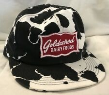 Old vint Goldenrod Dairy Farms cow print hat