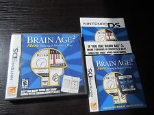 Nintendo DS complete Brain Age 2: More Training in Minutes a Day complete & test