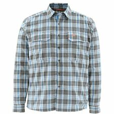 Simms Coldweather Long Sleeve Shirt ~ Tidal Blue Plaid ~ Size XL CLOSEOUT