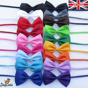 Pet Dog Cat Bow Tie, Neck Collar, Small to Large Pets, Adjustable, Puppy Kitten