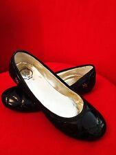 Designers Roberto Botticelli Italian Ballerina Quilted Black Flats Eu 39