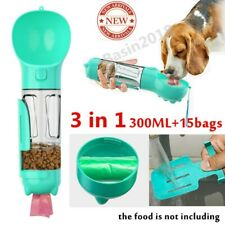 Pet Dog Cat Outdoor Water Bottle Dispenser Feeder Bowl Travel Poop Shovel w/bag