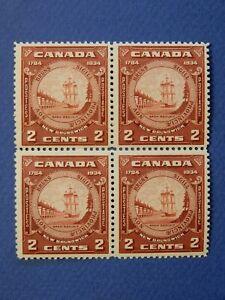 "#210 MNH  well-centred block of 4 ""New Brunswick Seal""   CV=$32.00"
