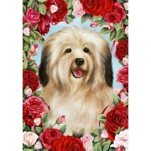 Roses Garden Flag - Cream Havanese 190971