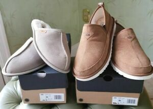 UGG MEN'S SCUFF or ROMEO SLIPPERS SHOES:NIB DUNE (SIZE 9) or CHESTNUT (SIZE 10)