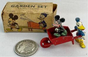 Walt Disney Garden Set Mickey Mouse Donald Duck 1940s