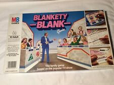 VINTAGE BLANKETY BLANK 1983 Family Party  Board Game MB Games COMPLETE EXCELLENT