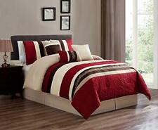 Dcp 7Pcs Oversized Embroidery Bed in Bag Microfiber Comforter Burgundy Cal King