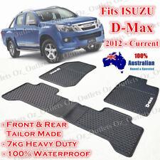 Waterproof Rubber Floor Mats Tailor Made for ISUZU D-MAX 2012 - 2017 Dual Cab