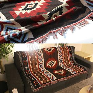 Aztec Navajo Towel Sofa Throw Mat Wall Hanging Cotton Rugs Classic Wove ●UK●