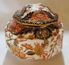 Royal Crown Derby vintage Victorian antique lidded vase jar box
