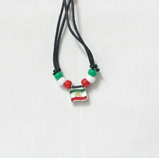 Iran With Lion Country Flag Small Metal Necklace Choker . New
