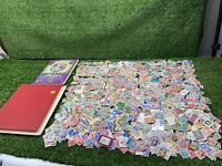 Collection Of Vintage Loose Stamps And Old Stamps Albums, Worldwide Stamps Lot
