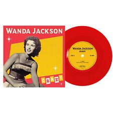 WANDA JACKSON - Crazy / Good Rockin' Tonight RED Vinyl 7 inch Rockabilly