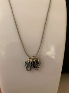 BRAND NEW - Fashion Jewellery - Butterfly pendant with blue/green stones