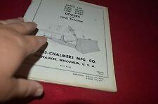 Allis Chalmers 21GEC 21GDC 21BCD 21GE 21GD 21BD Dozer Dealer's Parts Book DCPA6