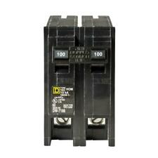 Brand New Square D Homeline 100 Amp Two-Pole Circuit Breaker HOM2100