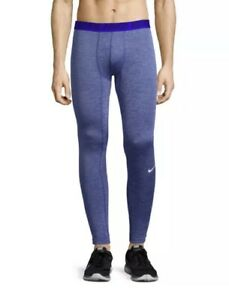 Nike Men's LARGE Base Layer Tights ( 896747-485 ) Blue Dri Fit NWT NEW