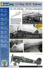 RCAF Typhoons - 1944 to Bodenplatte – 1/72 scale Aviaeology Decals 'n Docs