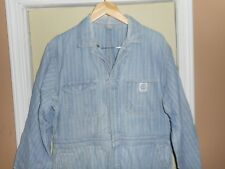 Vintage 1940's Bartel Perfection Striped Coveralls *Sz 42R* Lots Of Photos *