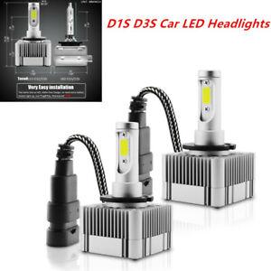 2PCS 35W Rainproof D1S D3S HID Xenon Bulbs Replacement LED Headlight 6000K Lamp
