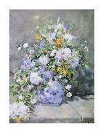 Pierre Auguste Renoir Frühlingsstrauss Poster Kunstdruck Bild 40x30cm