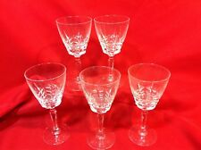 5pc lot Crystal Stemware Wine Glasses Jacob's Ladder pattern